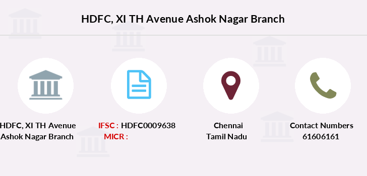 Hdfc-bank Xi-th-avenue-ashok-nagar branch