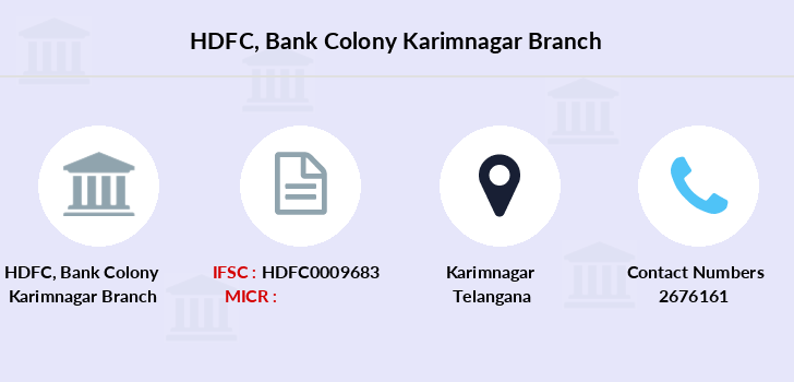 Hdfc-bank Bank-colony-karimnagar branch