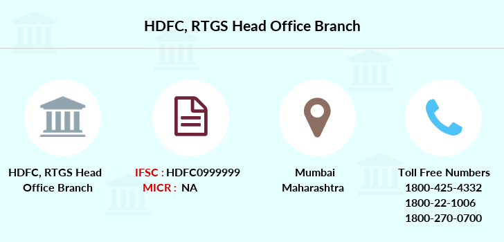 Hdfc-bank Rtgs-head-office branch