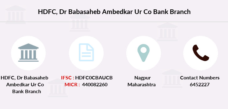 Hdfc-bank Dr-babasaheb-ambedkar-ur-co-bank branch