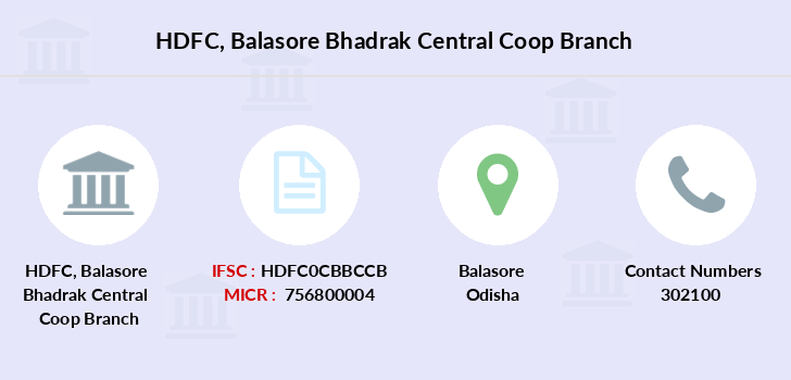 Hdfc-bank Balasore-bhadrak-central-coop branch
