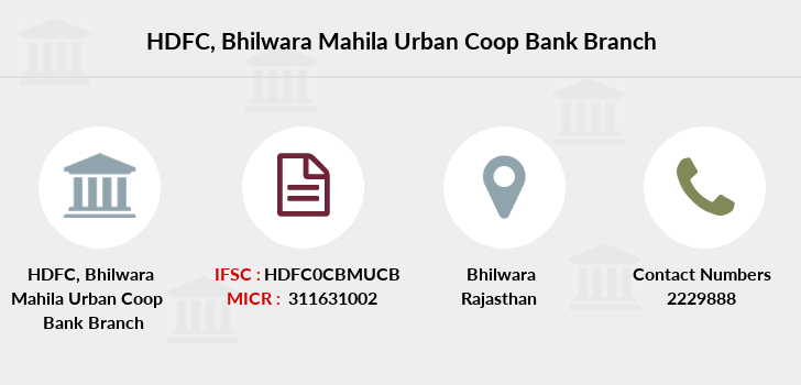 Hdfc-bank Bhilwara-mahila-urban-coop-bank branch