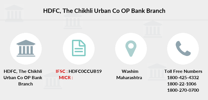 Hdfc-bank The-chikhli-urban-co-op-bank branch