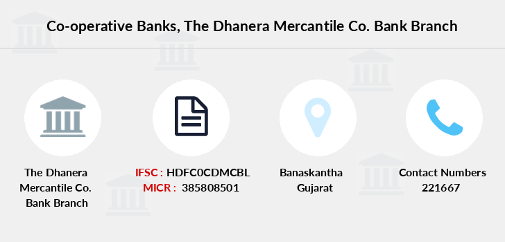 Co-operative-banks The-dhanera-mercantile-co-bank branch