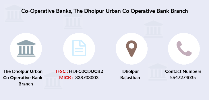 Co-operative-banks The-dholpur-urban-co-operative-bank branch