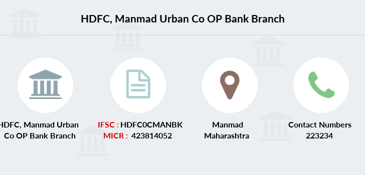 Hdfc-bank Manmad-urban-co-op-bank branch