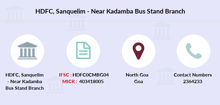 Hdfc-bank Sanquelim-near-kadamba-bus-stand branch