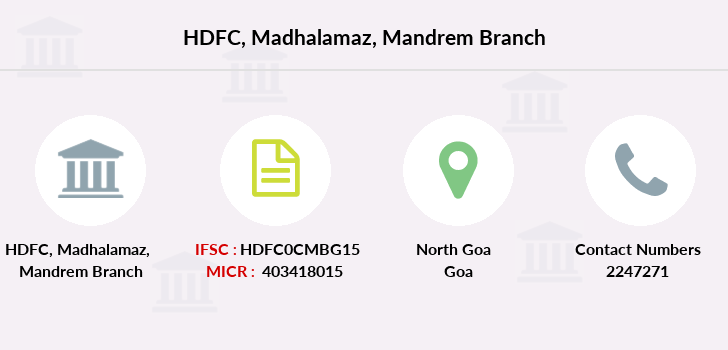 Hdfc-bank Madhalamaz-mandrem branch