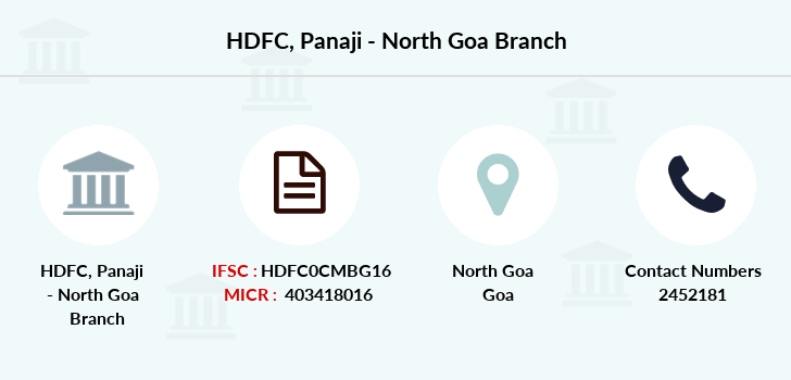 Hdfc-bank Panaji-north-goa branch