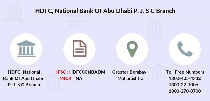 Hdfc-bank National-bank-of-abu-dhabi-p-j-s-c branch