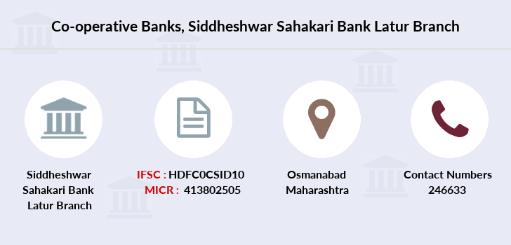 Co-operative-banks Siddheshwar-sahakari-bank-latur branch