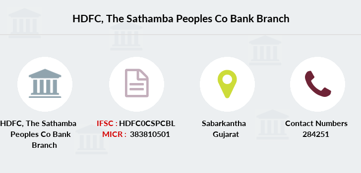 Hdfc-bank The-sathamba-peoples-co-bank branch