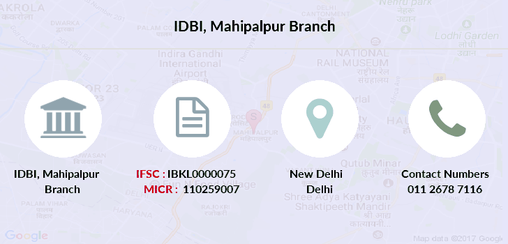 Idbi-bank Mahipalpur branch