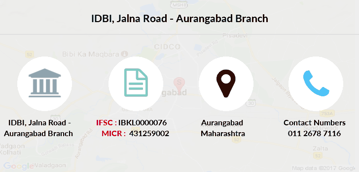 Idbi-bank Jalna-road-aurangabad branch