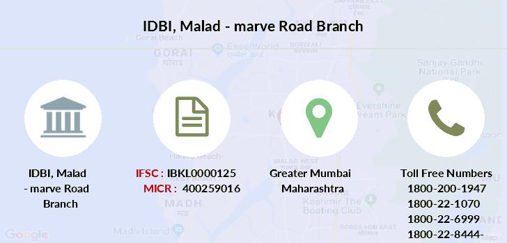 idbi bank mumbai contact number