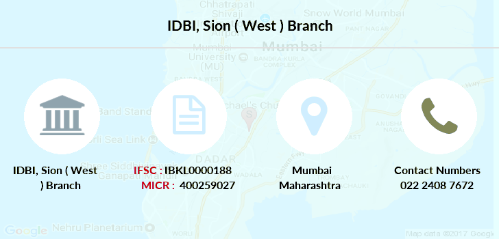Idbi-bank Sion-west branch