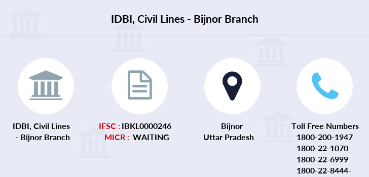 Idbi-bank Civil-lines-bijnor branch