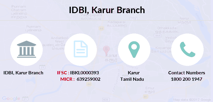 Idbi-bank Karur branch