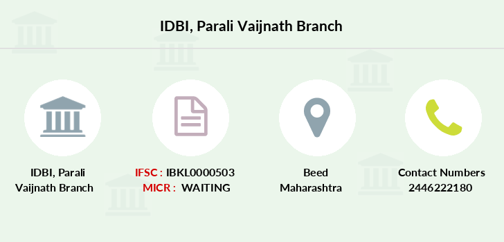 Idbi-bank Parali-vaijnath branch