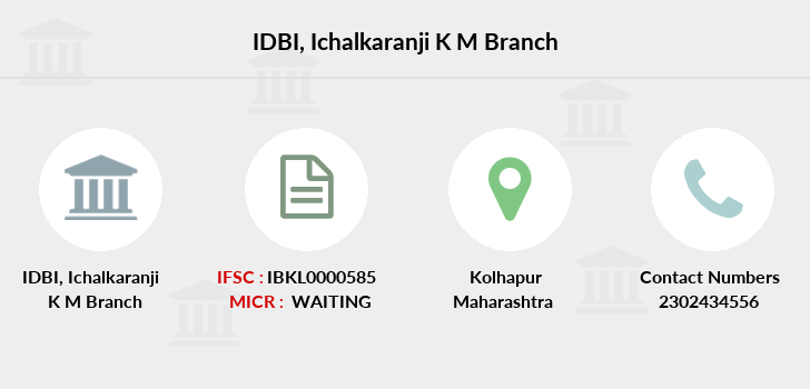 Idbi-bank Ichalkaranji-k-m branch