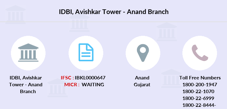 Idbi-bank Avishkar-tower-anand branch