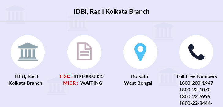 Idbi-bank Rac-i-kolkata branch