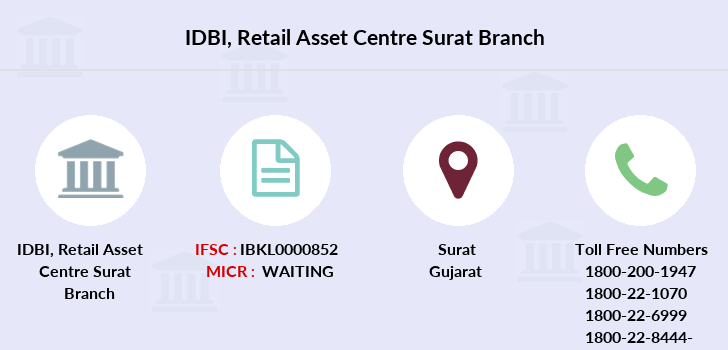 Idbi-bank Retail-asset-centre-surat branch