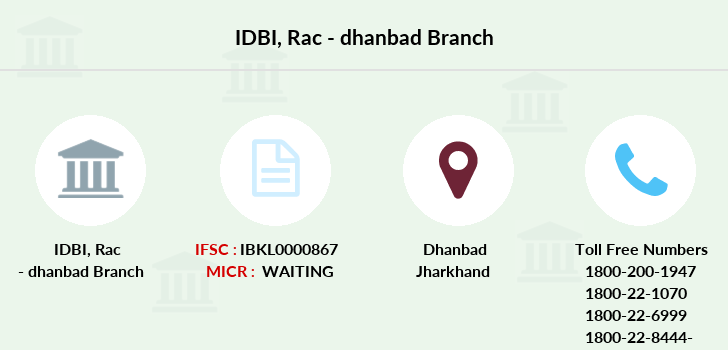 Idbi-bank Rac-dhanbad branch