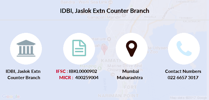 Idbi-bank Jaslok-extn-counter branch