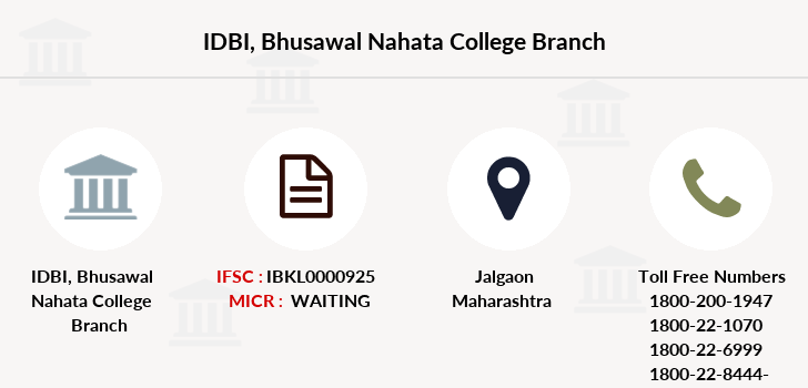 Idbi-bank Bhusawal-nahata-college branch