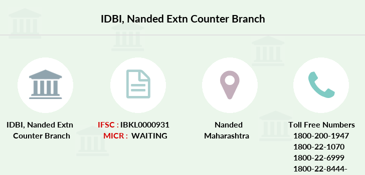 Idbi-bank Nanded-extn-counter branch