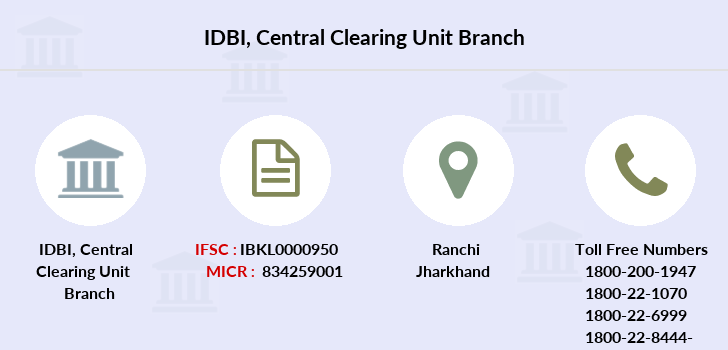 Idbi-bank Central-clearing-unit branch