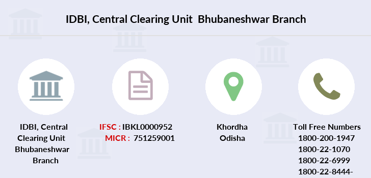 Idbi-bank Central-clearing-unit-bhubaneshwar branch