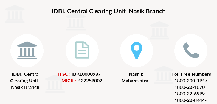 Idbi-bank Central-clearing-unit-nasik branch