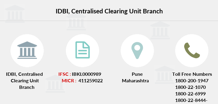 Idbi-bank Centralised-clearing-unit branch