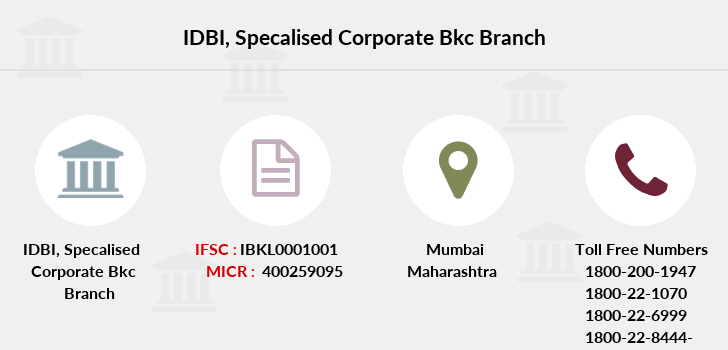 Idbi-bank Specalised-corporate-bkc branch