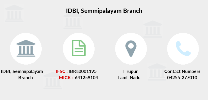 Idbi-bank Semmipalayam branch