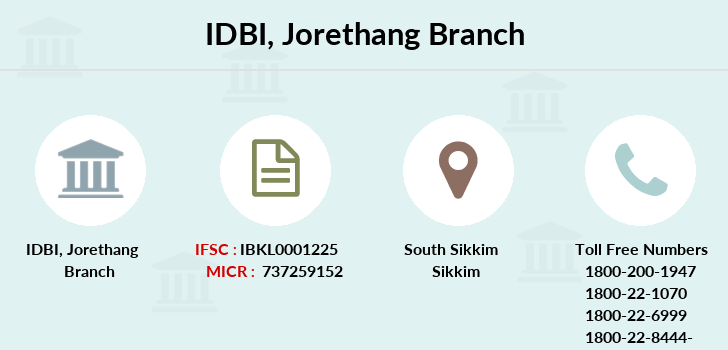 Idbi-bank Jorethang branch