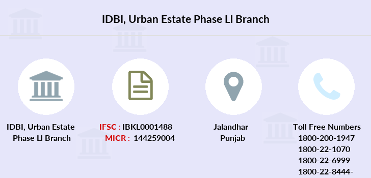 Idbi-bank Urban-estate-phase-ll branch