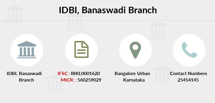 IDBI Banaswadi IFSC Code IBKL0001620