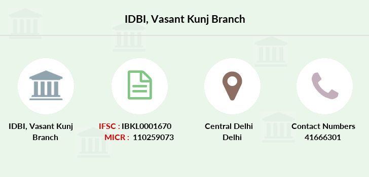 Idbi-bank Vasant-kunj branch