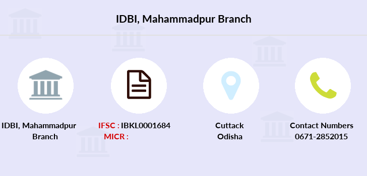 Idbi-bank Mahammadpur branch