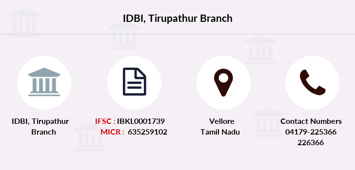 Idbi-bank Tirupathur branch