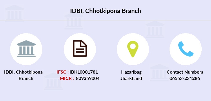 Idbi-bank Chhotkipona branch