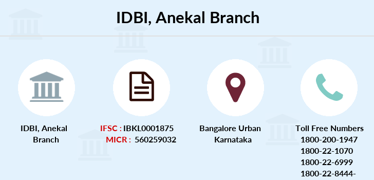 Idbi-bank Anekal branch