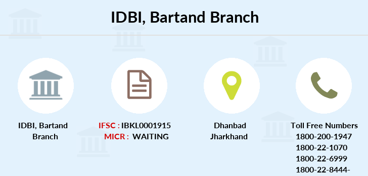 Idbi-bank Bartand branch