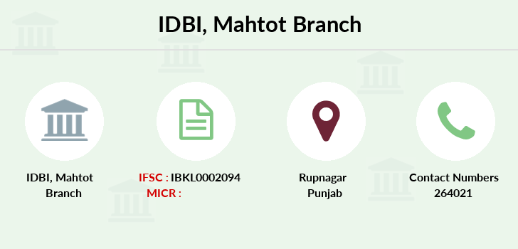 Idbi-bank Mahtot branch