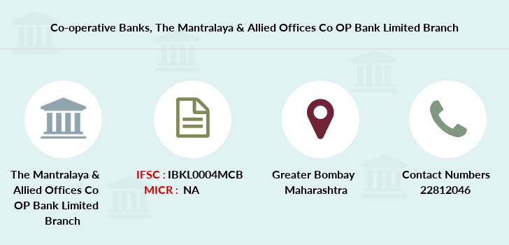 Co-operative-banks The-mantralaya-allied-offices-co-op-bank-limited branch
