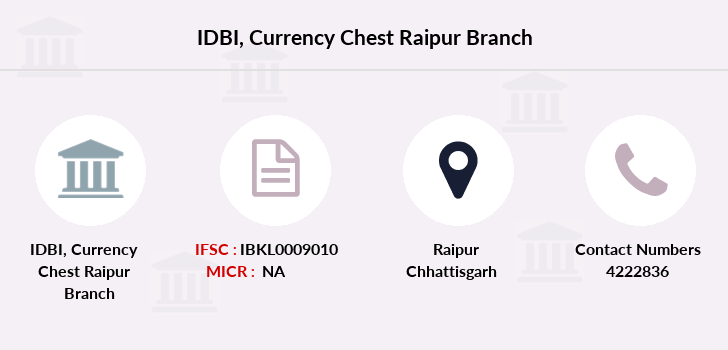 Idbi-bank Currency-chest-raipur branch