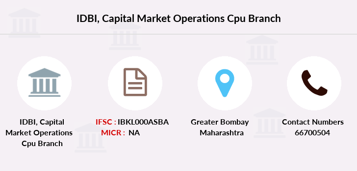 Idbi-bank Capital-market-operations-cpu branch